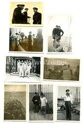 Kriegsmarine Fotos, Angehöriger auf einen Minensucher