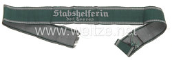 "Wehrmacht Heer Ärmelband ""Stabshelferin des Heeres"""