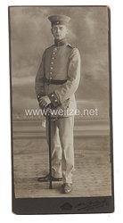 Preußen großes Kabinettfoto eines JÄgers im Regiment Jäger zu Pferde Nr. 6