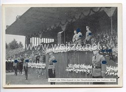 "III. Reich - Propaganda-Postkarte - "" Reichsparteitag Nürnberg 1938 - Appell der Hitler-Jugend in der Hauptkampfbahn des Stadions """