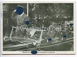 """III. Reich - Propaganda-Postkarte - """" Reichsparteitag Nürnberg 1935 - Ankunft des Führers zum Parteitag der Freiheit """""""