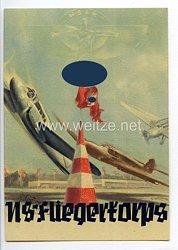 """NSFK - farbige Propaganda-Postkarte - """" Großflugtag Frankfurt a/M 30. Juli 1939 Flugplatz Rebstock """""""