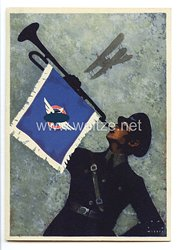"""Deutscher Luftsport-Verband ( DLV ) - farbige Propaganda-Postkarte - """" Werde Mitglied """""""