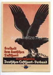 """Deutscher Luftsport-Verband ( DLV ) - farbige Propaganda-Postkarte - """" Freiheit dem deutschen Luftsport - Werdet Mitglied im Deutschen Luftsport-Verband """""""
