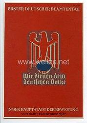 """III. Reich - Propaganda-Postkarte - """" Erster Deutscher Beamtentag 18.-24. Oktober 1937 """""""