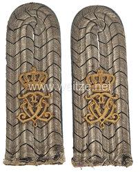Preußen Paar Schulterstücke für einen Leutnant im Füsilier-Regiment von Gersdorff (Kurhessisches) Nr. 80