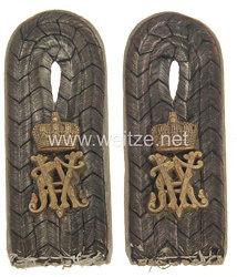 Preußen 1. Weltkrieg Paar Schulterstücke für einen Leutnant im Füsilier-Regiment Königin (Schleswig-Holsteinisches) Nr. 86