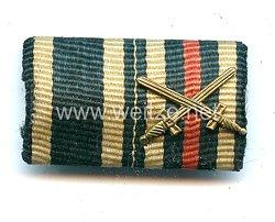 Bandspange eines Soldaten im 1. Weltkrieg