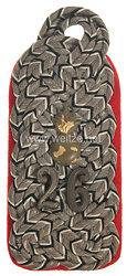 Preußen Einzel Schulterstück feldgrau für einen Major im 2. HannoverschenFeldartillerie-Regiment Nr. 26