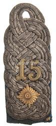 Preußen Einzel Schulterstück für einen Oberstleutnant im Infanterie-Regiment Prinz Friedrich der Niederlande (2. Westfälisches) Nr. 15