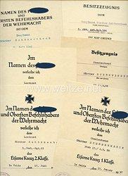 Heer - Urkundengruppe für einen späteren Hauptmann der I.Abt./Art.-Rgt.164
