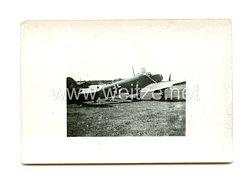 Luftwaffe Foto, Kampfflugzeug mit Staffelwappen