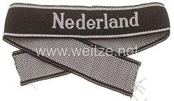 "Waffen-SS Ärmelband für Mannschaften der 23. SS-Freiw.-Panzer-Gren.Div. ""Nederland"""