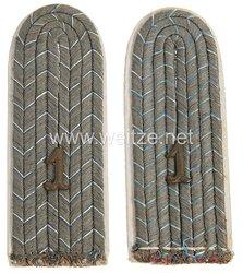 Bayern 1. Weltkrieg Paar Schulterstücke feldgrau für einen Leutnant im1. Reserve-Infanterie-Regiment