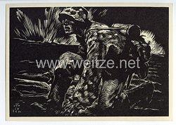 """SS - Propaganda-Postkarte - """" Männer der Waffen-SS - Spähtrupp """""""