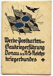 """III. Reich - Schutzumschlag für """" Werbe-Postkarten der Gaukriegerführung Donau des NS-Reichskriegerbundes """""""