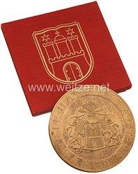 """III. Reich - Die Freie und Hansestadt Hamburg - """" Medaille für treue Arbeit im Dienste des Volkes """""""