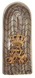 Preußen 1. Weltkrieg Einzel Schulterstück für einen Leutnant im Grenadier-Regiment König Friedrich Wilhelm II. (1. Schlesisches) Nr. 10