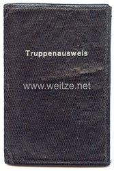 III. Reich - Schutzhülle für einen Truppenausweis