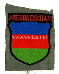 """Wehrmacht Heer Ärmelschild für Freiwillige """"Aserbaidschan"""""""