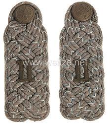 Bayern 1. Weltkrieg Paar Schulterstücke feldgrau für einen Major im Bekleidungsamt des II. Königlich Bayerischen Armee-Korps