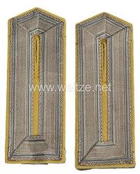 Preußen 1. Weltkrieg Paar Schulterklappen feldgrau für Beamtenstellvertreter im Feldwebelrang im Proviantamt