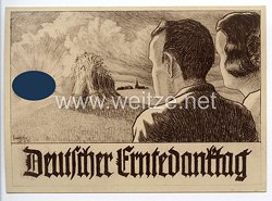 """III. Reich - Propaganda-Postkarte - """" Deutscher Erntedanktag """""""