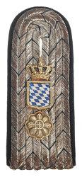 Bayern Einzel Schulterstück für einen Beamten im Kriegsministerium im Range des Geheimen Kanzlei-Sekretärs