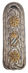 Bayern Einzel Schulterstück für einen Beamten im Kriegsministerium im Range des Kanzleirats