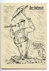 """Deutscher Luftsport-Verband ( DLV ) - Propaganda-Postkarte - """" Der Optimist """""""