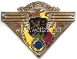 """NSKK - nichttragbare Teilnehmerplakette - """" NSKK Motorbrigade Kurpfalz-Saar 1936 rund um Heidelberg """""""