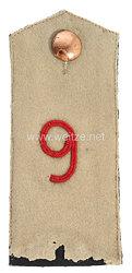 Preußen Einzel Schulterklappe für Mannschaften im Colbergschen Grenadier-Regiment Graf Gneisenau (2. Pommersches) Nr. 9