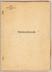"""Junkers Flugmotorenwerk- JFM Betriebsschulung MSD """" Motorenkunde """" - Sonderkurs für Werksangehörige im Winterhalbjahr 1937/38"""