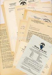 III. Reich - Reichsnährstand Landesbauernschaft Hesse-Nassau - Dokumentengruppe zur Eindeutschung rassisch wertvoller Familien aus fremden Staaten