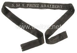 """Kaiserliche Marine Mützenband """"S.M.S Prinz Adalbert""""in Silber"""