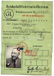Reichsluftfahrtministerium Generalluftzeugmeister (GL) - Besucherausweis