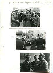 Wehrmacht Fotos, Ritterkreuzträger mit Eichenlaub General Dietl zum Kriegsspiel in Kirkenes Norwegen
