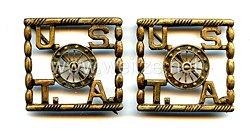 USA : Pair of Collar Insignias U.S.T.A