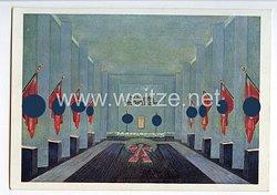 """III. Reich - farbige Propaganda-Postkarte - """" Ausstellung ' Kampf der NSDAP in Leipzig 1925-1935 ' - Ehrenhalle für die Gefallenen der Bewegung in Leipzig """""""