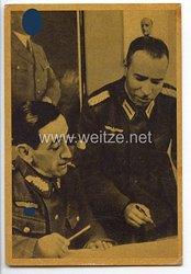 III. Reich - Propaganda-Postkarte der Blauen Division - Cuadros de la Division Azul - El General Munoz Grande