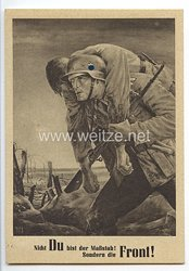 """III. Reich - Propaganda-Postkarte - """" Tag der NSDAP im Generalgouvernement 13.-15.8.1943 - Nicht Du bist der Maßstab ! Sondern die Front ! """""""