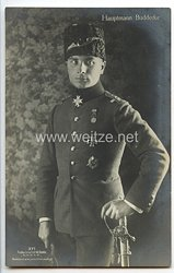 """Fliegerei 1. Weltkrieg - Fotopostkarte  - Deutsche Fliegerhelden """" Hauptmann Buddecke """""""