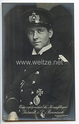 """Fliegerei 1. Weltkrieg - Fotopostkarte  - Deutsche Fliegerhelden """" Leutnant zur See Boenisch """""""