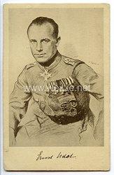 "Fliegerei 1. Weltkrieg - Propaganda-Postkarte - "" Ernst Udet - Oster-Flugtage Regensburg 12./13.4.1925 """