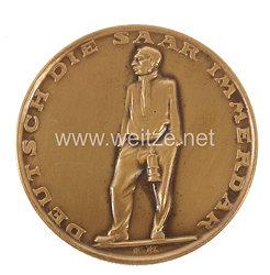 """III. Reich - bronzene Erinnerungsmedaille an die Volksabstimmung 13.1.1935 """"Deutsch die Saar immerdar"""""""