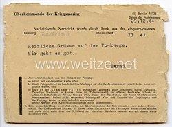 Festung Dünkirchen - Feldpostkarte als Festungspost an eine Frau in Hagen/Westfalen