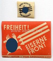 III. Reich - 2 Vignetten der Eisernen Front