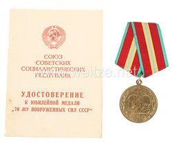 Sowjetunion Jubiläum Medaille: 70 Jahre Sowjet Armee 1988