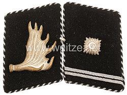 Allgemeine-SS Paar Kragenspiegel für einen SS-Scharführer der SS-Standarte Nr. 105 Memelland