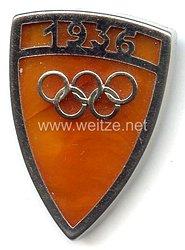 XI. Olympischen Spiele 1936 Berlin - Brosche für ein Halstuch als Erinnerungsstück